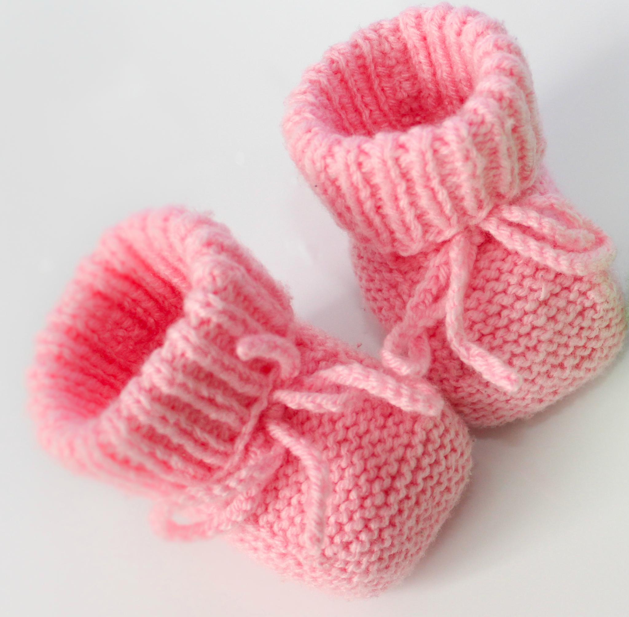 patron tricot chaussettes bébé