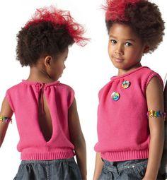 modele debardeur tricot fillette