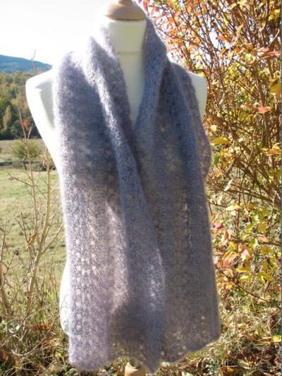 modèle tricot etole mohair