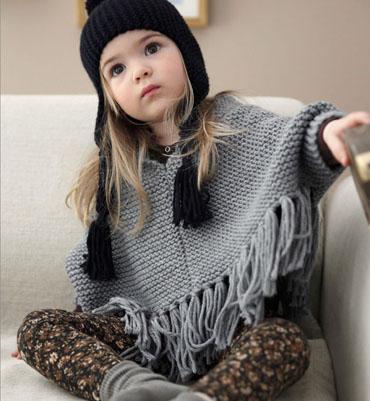 explication mod le tricot poncho fille. Black Bedroom Furniture Sets. Home Design Ideas