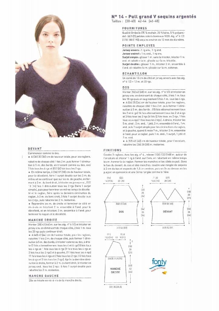 c402c54262738 modèle tricot pull col v femme