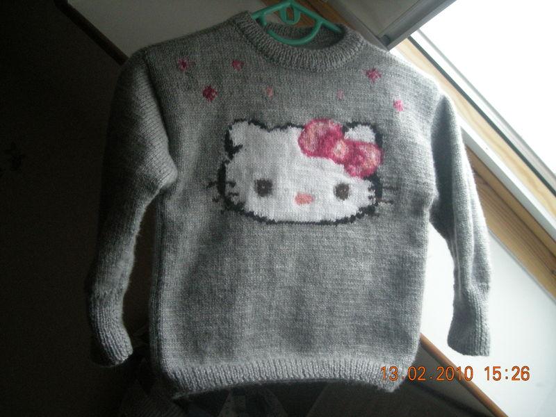 Explication mod le tricot pull hello kitty - Modele hello kitty ...