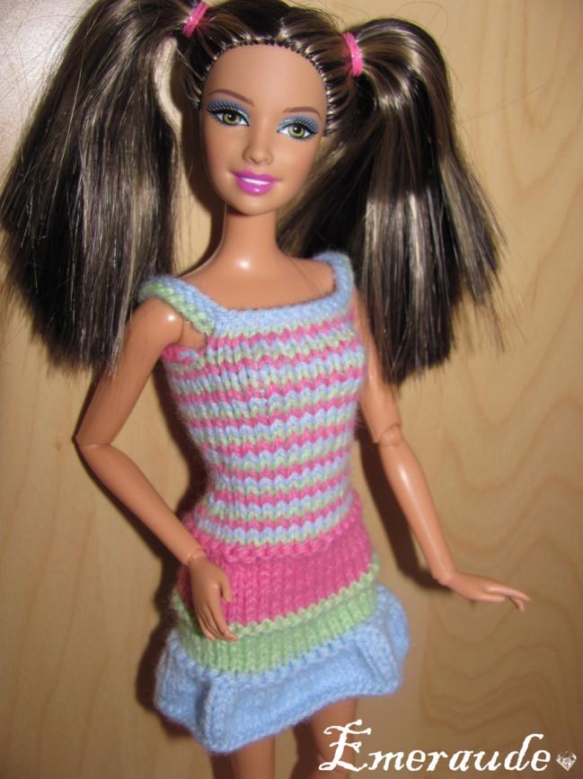 mod232le tricot robe barbie
