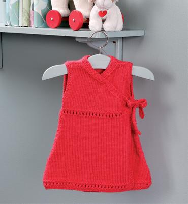 modele gratuit robe layette tricot