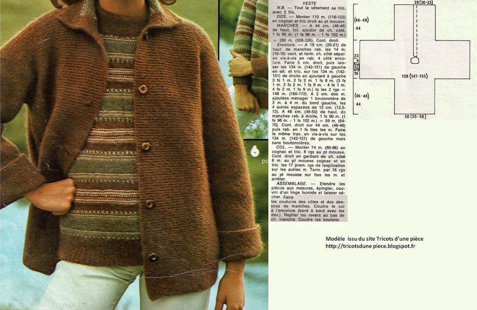 modele veste tricot aiguille 8