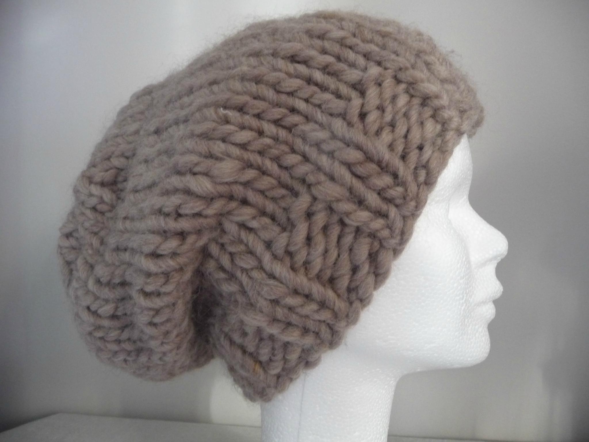 patron tricot bonnet en laine