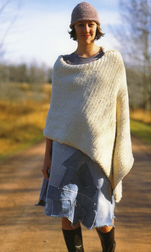 realisation poncho tricot