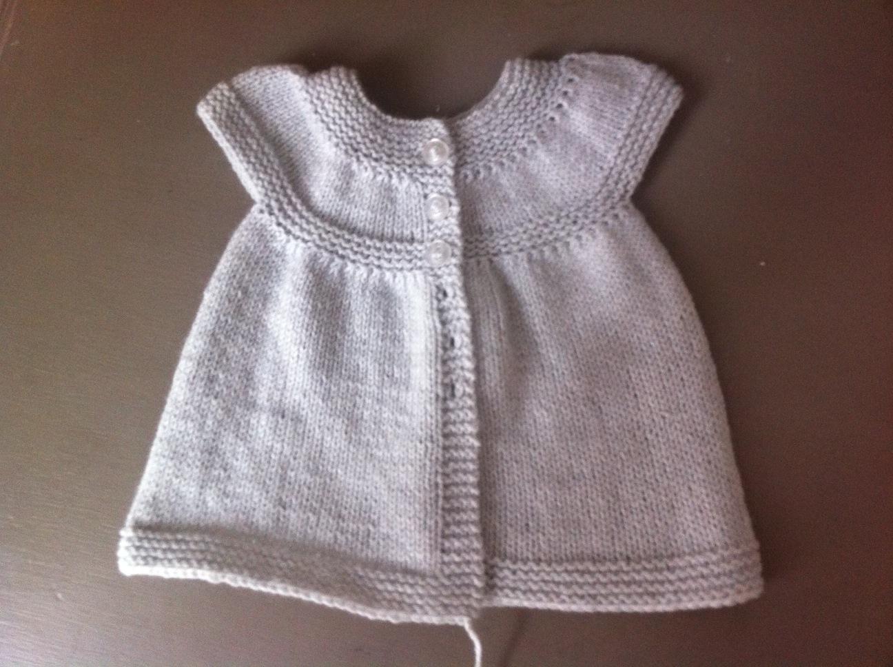 Tricoter une robe en laine pour petite fille nos conseils - Faire une augmentation en tricot ...