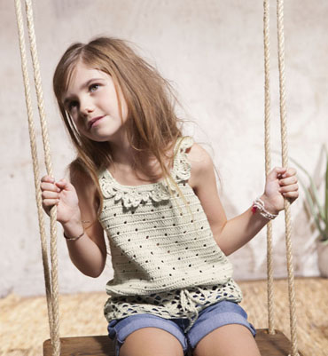 modèle tricot debardeur fillette