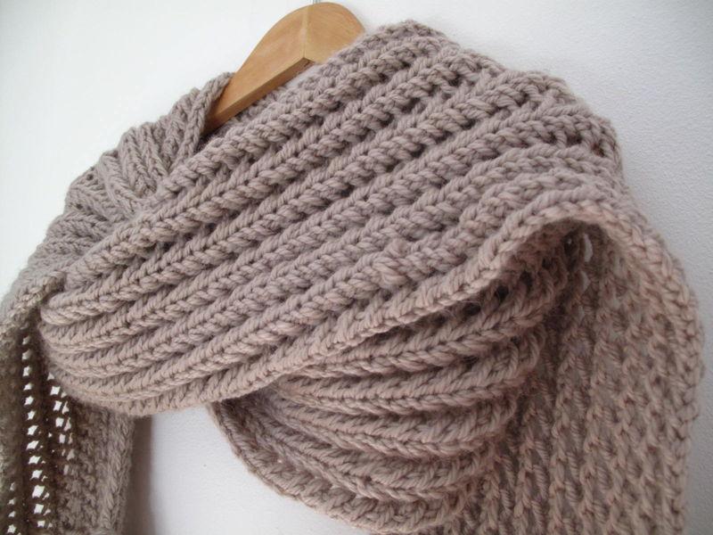 patron tricot foulard spirale