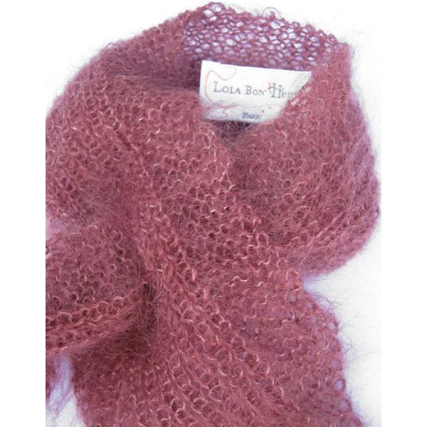 modele echarpe tricotee a la main
