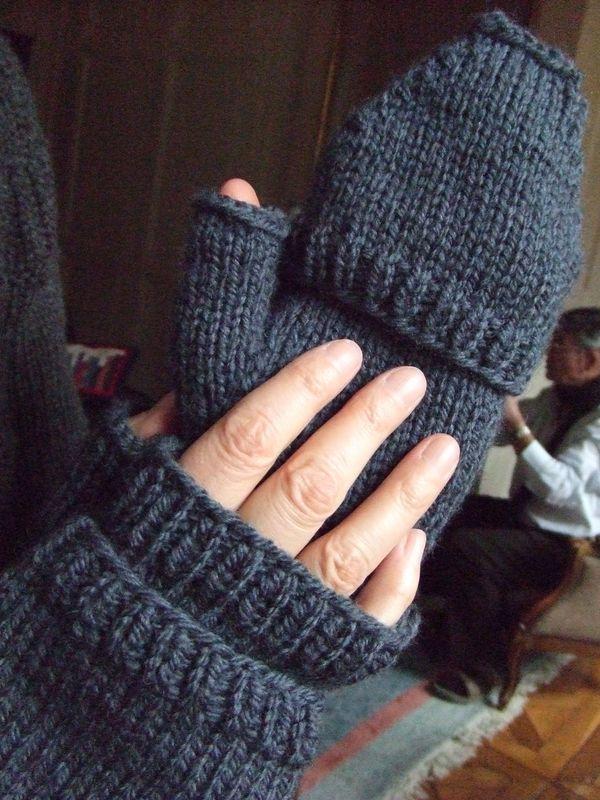 modele tricot gant mitaine