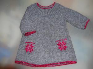 modèle robe tricot gratuit 4 ans