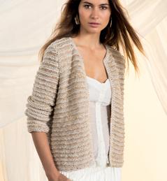 modele tricot gilet coton femme