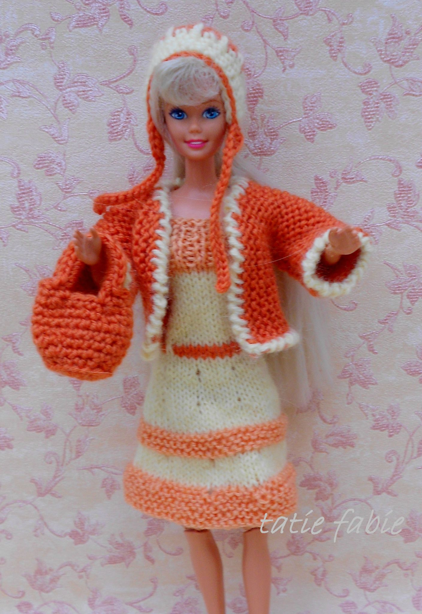 patron tricot robe barbie