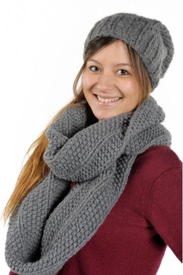 gratuit patron tricoter une echarpe tube. Black Bedroom Furniture Sets. Home Design Ideas