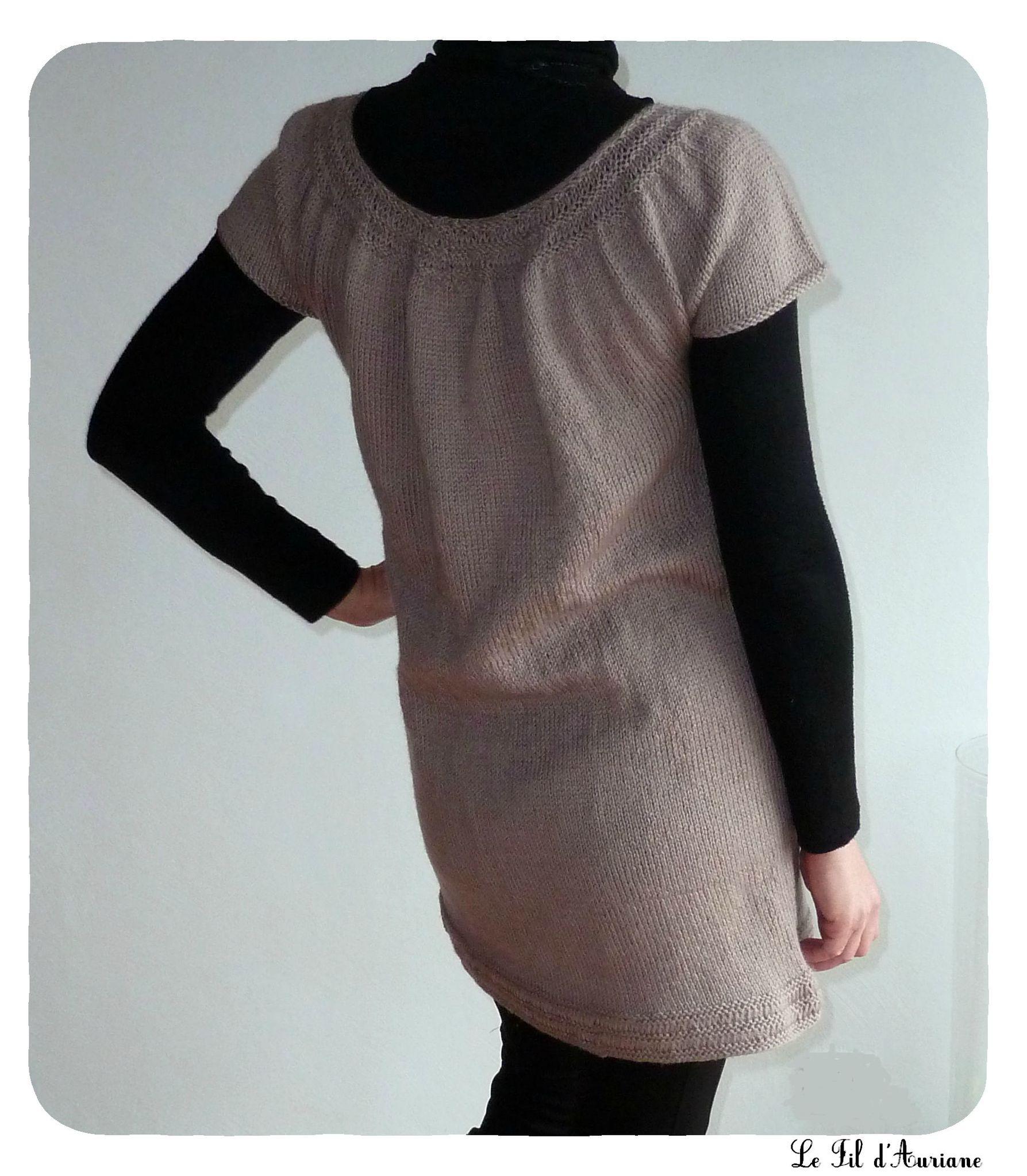 modele robe tricot drops
