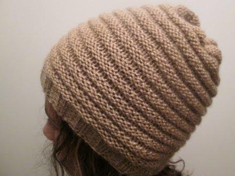 tricoter un bonnet a 2 aiguilles