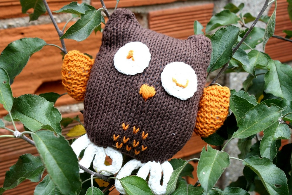 modèle tricot doudou hibou