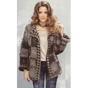 Modèle à tricoter gratuit Manteau Femme Laine Katia Junior