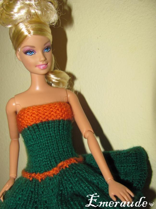 modèle tricot robe barbie