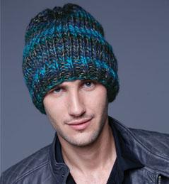 modele gratuit bonnet homme tricot
