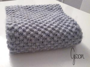 tricot point de riz echarpe