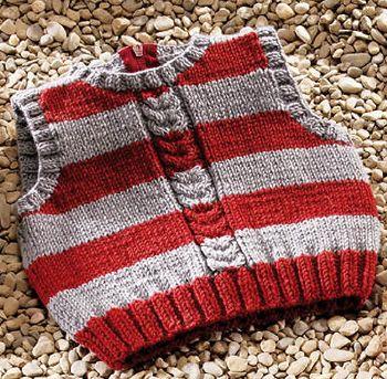 patron tricot debardeur bebe