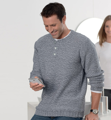 illustration mod le tricot pull homme. Black Bedroom Furniture Sets. Home Design Ideas