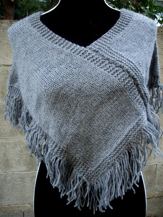 patron tricot poncho