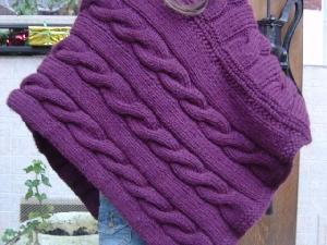 modèle poncho tricot 4 ans