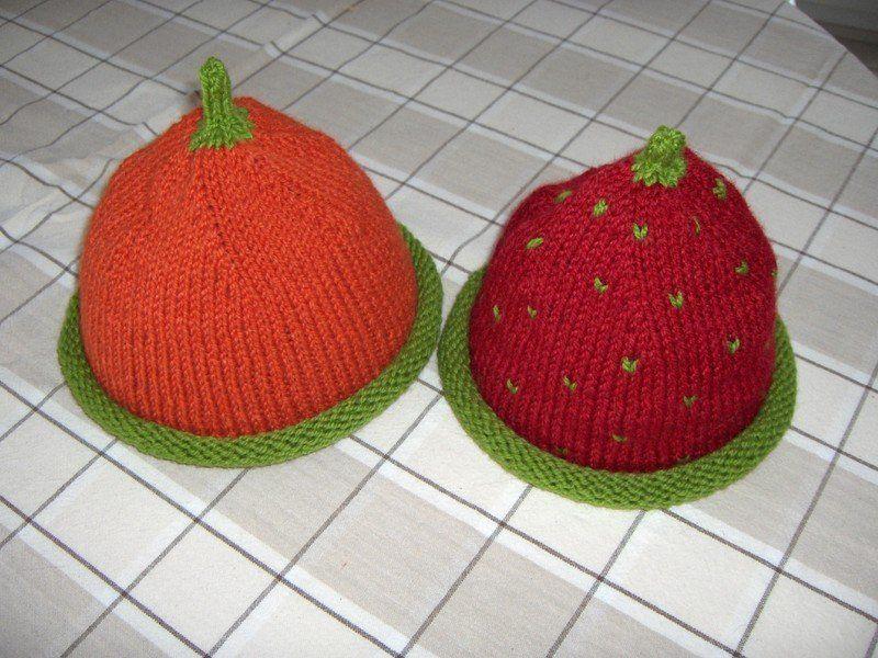 dbe8a5b491c affichage modèle tricot bonnet fraise bouton source
