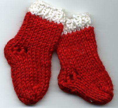 modèle tricot chaussettes de noel