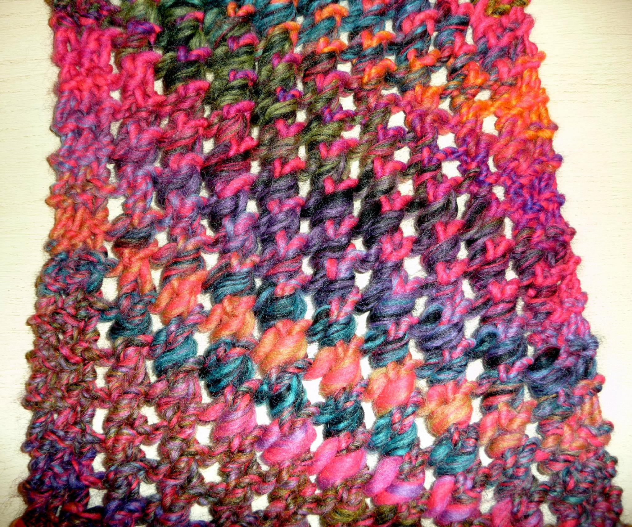 tricoter une echarpe laine katia