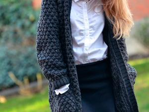 Mod le tricot pull grosse maille - Tricoter une echarpe grosse maille ...