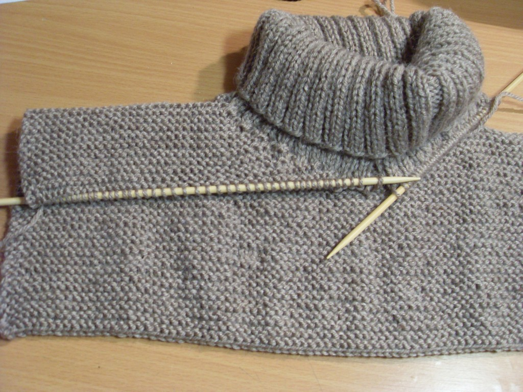 modèle encolure tricot