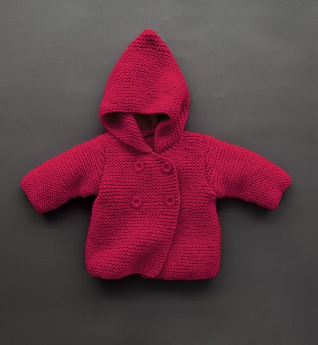 modèle tricot gilet capuche