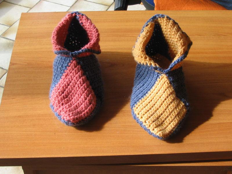 comment tricoter chausson pour adulte