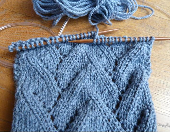 modèle tricot echarpe etole