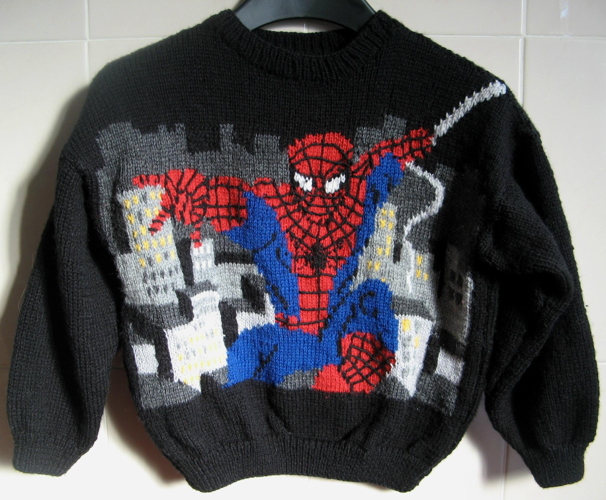 modèle tricot spiderman