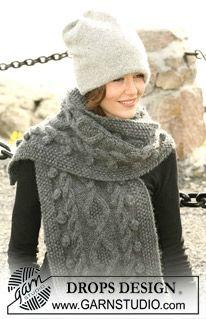 modèle tricot echarpe drops