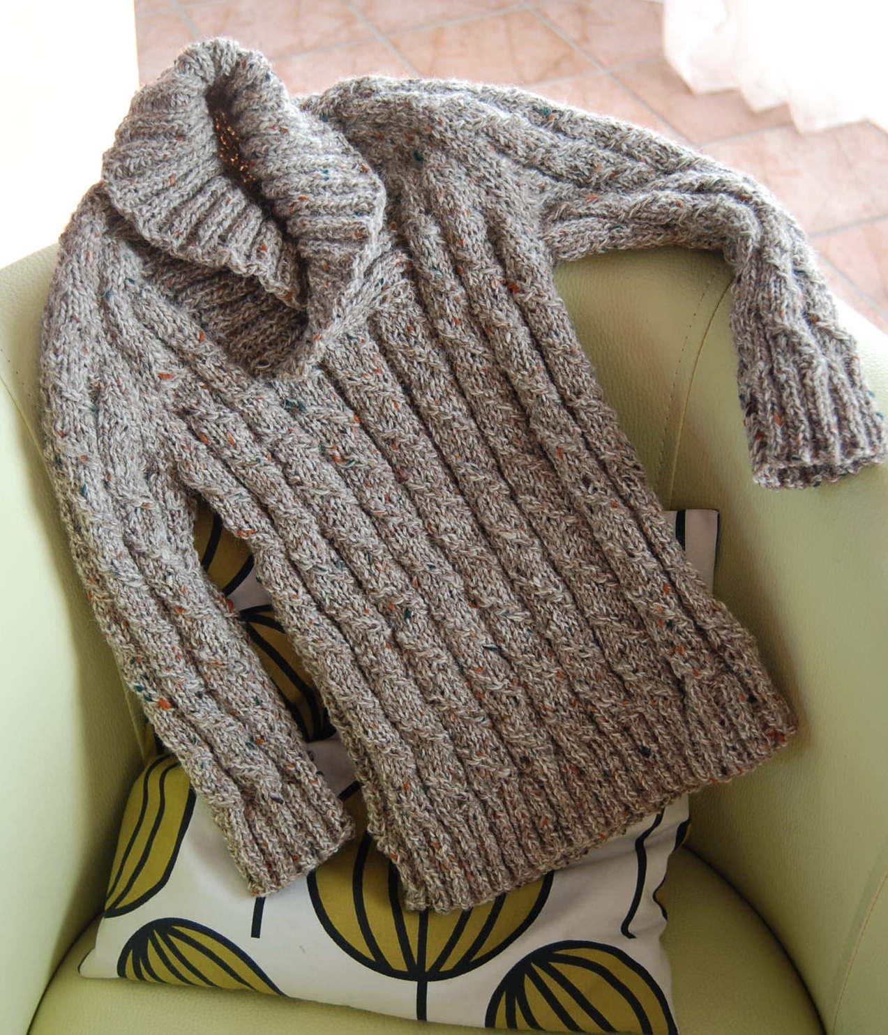 modèle tricot gratuit col chale