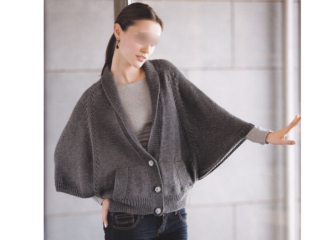 aper u mod le veste tricot pour femme. Black Bedroom Furniture Sets. Home Design Ideas