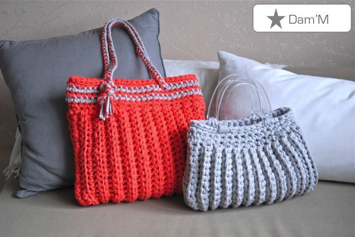 Aper u patron gratuit sac a main tricot - Patron de sac a main ...