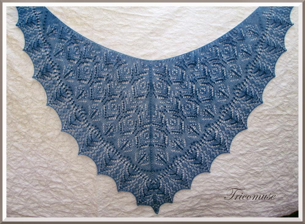 chale dentelle tricot modele gratuit