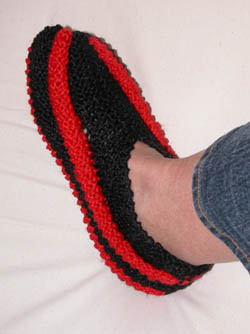 patron tricot pantoufle en phentex