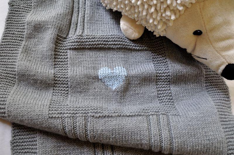 patron tricoter une couverture de bébé
