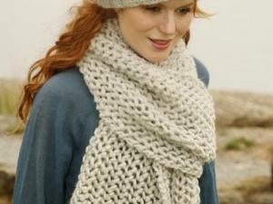 Mod le grande echarpe tricot - Aiguille a tricoter grande longueur ...