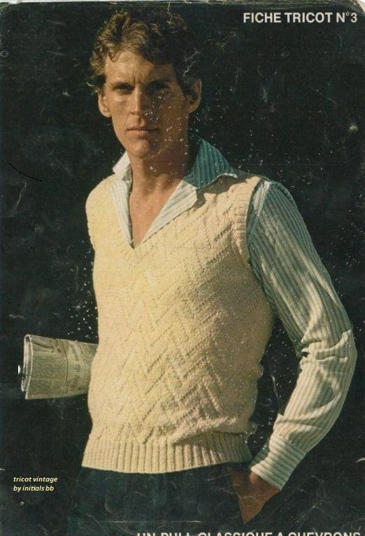 modèle tricot debardeur homme