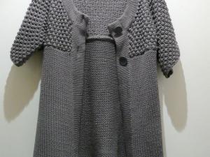 modèle tricot gilet femme manche courte
